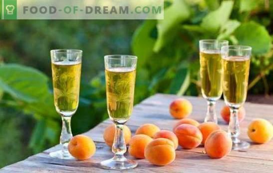 Stiprus ir saldūs abrikosų gėrimai namuose. Taisyklės fermentacijos ir tinktūros alkoholinių gėrimų iš abrikosų