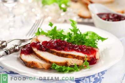 Spanguolių padažas - geriausi receptai. Kaip tinkamai ir skaniai virti spanguolių padažą.