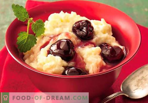 Ryžių pudingas - geriausi receptai. Kaip tinkamai ir skaniai virti ryžių pudingas.
