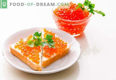 Sumuštiniai su raudonaisiais ikrais yra geriausi receptai. Kaip greitai ir skaniai virti sumuštinius su raudonais ikrais.