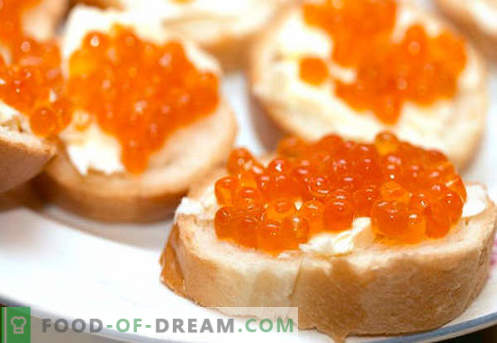 Sandwiches with red caviar are the best recipes. How to quickly and tasty cook sandwiches with red caviar.