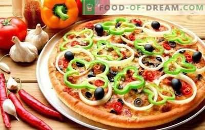 Pica ant kefyro: žingsnis po žingsnio greitas tešlos ir skanus įdaras. Maisto gaminimas ant žingsnio po žingsnio receptų kefyro pica