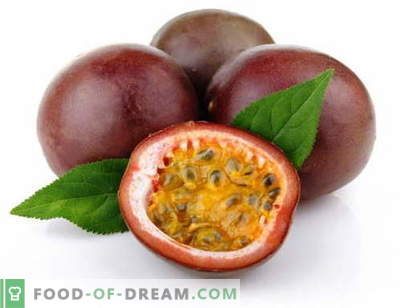 Passion fruit - description, useful properties, use in cooking. Recipes with passion fruit.