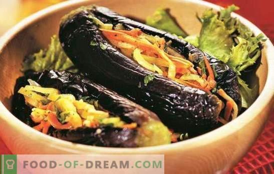 Baklažanai, įdaryti daržovėmis žiemą paruoštiems užkandžiams. Geriausi baklažanų receptai, įdaryti daržovėmis žiemai