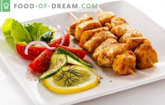 Vištienos filė šašlykas yra skanus šventės biudžetas. Geriausi vištienos kebabo receptai