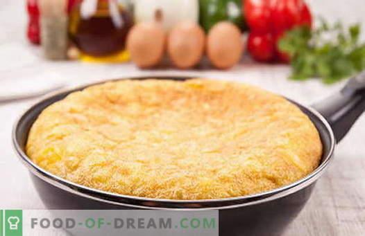 Omletas, patvirtintas receptais. Kaip tinkamai ir skaniai virti omletą keptuvėje.