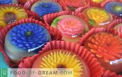 Skaidrus želė yra meno kūrinys! Maisto gaminimo būdai ir lengvų desertų bei skaidrių želė pagrindinių patiekalų receptai
