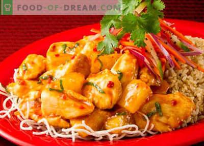 Korėjiečių vištiena - geriausi receptai. Kaip tinkamai ir skaniai virti Korėjos vištienos.