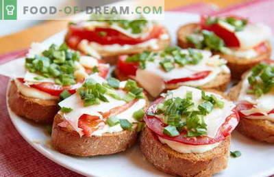 Greiti ir paprasti sumuštiniai yra geriausi receptai. Kaip greitai ir skaniai ruošti paprastus sumuštinius skubėti.