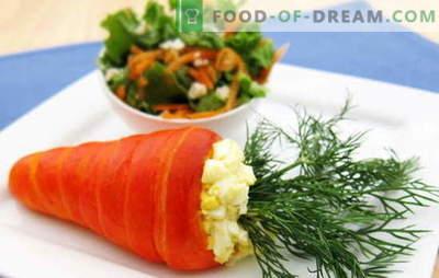 Porgandi ja munade salat - maitse ja kasu kombinatsioon. Parimad retseptid porganditele ja munadele: lihtne, originaalne ja puff
