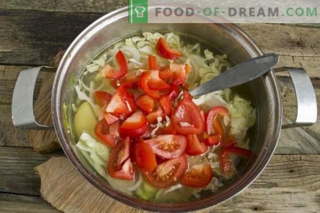 Vasaros daržovių sriuba vištienos sultinyje