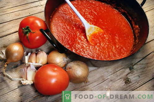 Pomidorų padažas - geriausi receptai. Kaip tinkamai paruošti pomidorų padažą.