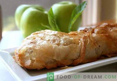 Obuolių šlakas - geriausi receptai. Kaip tinkamai ir skaniai virti strudą su obuoliais.
