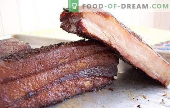 Rūkyta kiauliena namuose: tai bus skanus! Sėkmingiausi rūkytų riebalų gaminimo receptai namuose