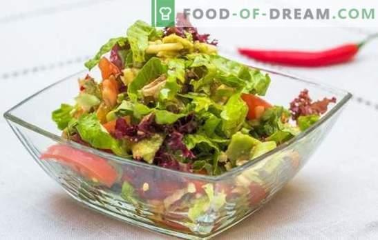 Greitos greito salotos: skanūs variantai. Receptai rafinuoti ir greiti salotos - skubėti atostogoms ir kasdieniam gyvenimui