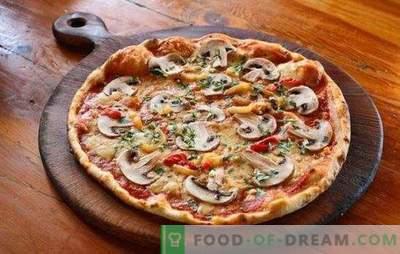 Pica su smulkinta mėsa ir grybais: tradiciniai ir originalūs receptai. Namų pica su malta mėsa ir grybais - geriausi variantai