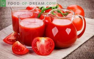 Pomidorų sulčių gamyba namuose: natūralus, su daržovėmis, obuoliais ar prieskoniais. Pomidorų sulčių gamybos namuose namuose metodai