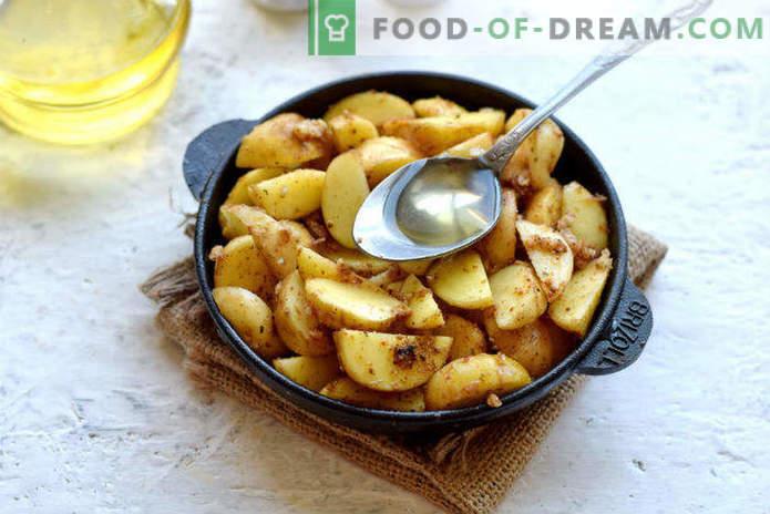Naujos bulvės orkaitėje, receptas Selyanski