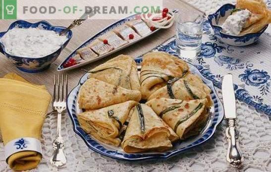 Blynai su svogūnais ir kiaušiniais - jums reikia ruošti daug! Įvairių blynų su žaliais svogūnais ir kiaušiniais receptai su cukrumi ir įdarais