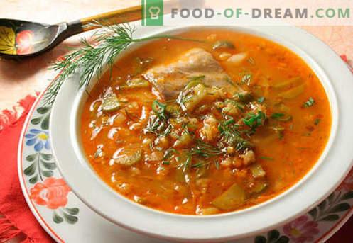 Rassolnik su ryžiais - geriausi receptai. Kaip tinkamai ir skaniai virti marinuoti su ryžiais.