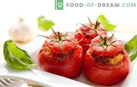 Kepti pomidorai su smulkinta mėsa - sultingi, skanūs, originalūs. Geriausi receptai keptiems pomidorams su smulkinta mėsa