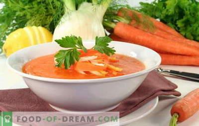Morkų sriuba yra saulėtas patiekalas ant stalo. Kaip gaminti skanius morkų sriuba: saldžių ar sūrių patiekalų receptai