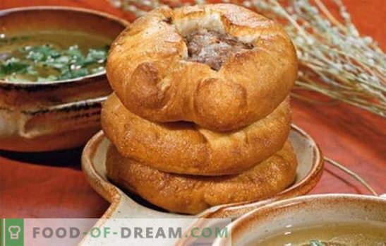 Mielių belyashi - tikrai totorių patiekalas? Kvapiųjų ir sultingų baltymų receptai su mielėmis su skirtingais įdarais