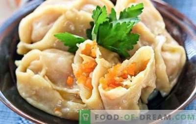Reikalinga moliūgų ir mėsos - Azijos skonio. Keletas būdų virti vieną patiekalą - manti su moliūgu ir mėsa