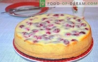 Kaip gaminti skanius vyšnių pyragus ant kefyro - paslapčių. Įvairių vyšnių pyragų receptų pasirinkimas kefyre