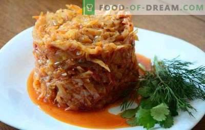 Kopūstai su maltomis mėsomis, troškintomis keptuvėje, yra sultingas patiekalas. Kaip virti kopūstus su smulkintu troškiniu keptuvėje