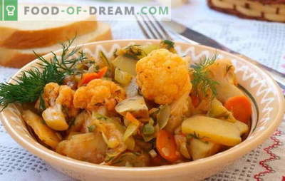 Populiariausi troškiniai yra daržovės, su kopūstais ir bulvėmis. Receptai, skirti lašišoms nevalgius - daržovių troškinys su kopūstais ir bulvėmis