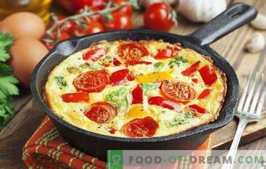 Omletas su daržovėmis - šviesus ir sveikas pusryčiai. Kaip virti omletą su daržovėmis keptuvėje, lėtoje viryklėje, orkaitėje ir mikrobangų krosnelėje