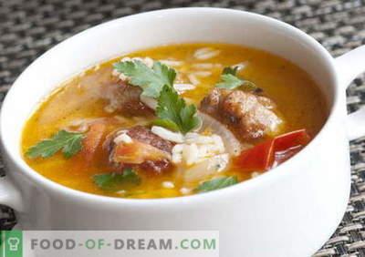 Sriubos su ryžiais - geriausi receptai. Kaip tinkamai ir skaniai virti sriuba su ryžiais.