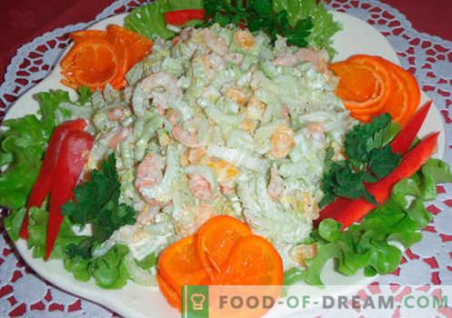 Originalios salotos - receptai. Originalios atostogų stalo salotos ir kiekvieną dieną.