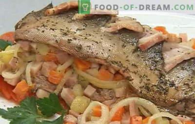 Rožinės lašišos receptų įvairovė su morkomis ir svogūnais: troškinta, kepta. Rožinė lašiša su morkomis ir svogūnais orkaitėje ir keptuvėje
