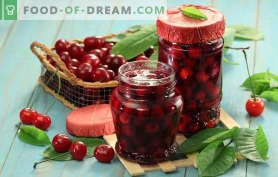 Tasty and fragrant canned sweet cherry for the winter. The best recipes for preserving cherries for all