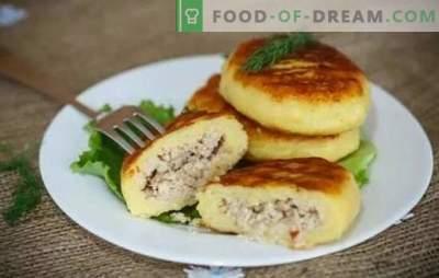 Zrazy bulvės: žingsnis po žingsnio receptai ruddy mėsos arba pyragai? Visos paslaptys, maisto ruošimas ir įdaras bulvių zrazui (žingsnis po žingsnio)