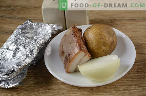 Bulvės su kumpiu folijoje - skonis nuo vaikystės! Išsamus foto receptas bulvėms gaminti su folija kepta šonine