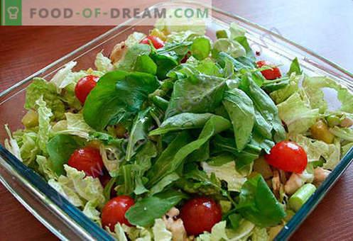 Salotos su šparagais - geriausių receptų pasirinkimas. Kaip tinkamai ir skaniai virti salotų su šparagais.