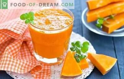 Moliūgų sultys sulčių puode yra skanus vitamino gėrimas. Kaip virti moliūgų sultis sulčių puodelyje