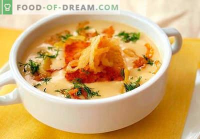 Velouté au fromage - les meilleures recettes. Comment bien et savoureux cuire la soupe au fromage.