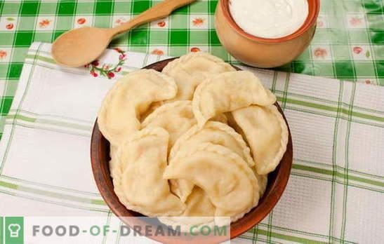 Koldūnai su bulvėmis ir taukais yra tikras Ukrainos džiaugsmas. Slaptieji koldūnų su bulvėmis ir šonine receptai