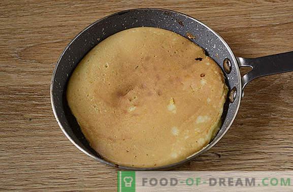 Placki Cornmeal: Bujny, piękny deser na kefirze. Jak gotować naleśniki kukurydziane: krok po kroku foto-przepis