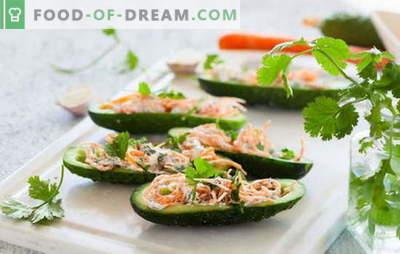 Korėjos morkų ir agurkų salotos: aštrus delikatesas. Geriausi populiarių Korėjos morkų ir agurkų salotų receptai