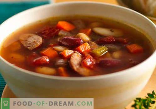 Dešros sriuba - įrodyta receptai. Kaip tinkamai ir skaniai virti sriuba su dešra.