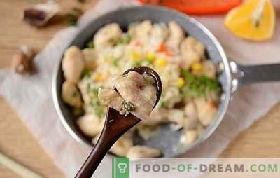 Kycklingfilé med timjan: bli förvånad över den nya smaken av den vanliga produkten! Författarens fotorecept av kycklingfilé med timjan, vitlök och citron i en panna