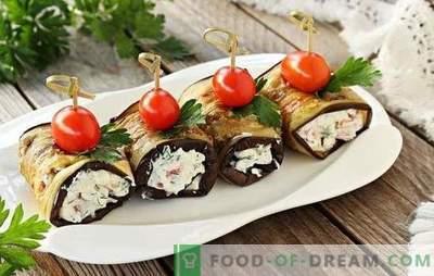 Baklažanų patiekalai su česnakais ir majonezu. Daržovių pyragaičiai, ritiniai: lengvi baklažanų patiekalai su česnakais ir majonezu