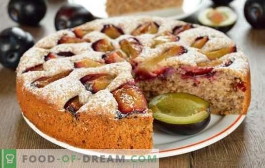 Pyragas su slyvomis - pakaks! Įvairių pyragų pasirinkimas su mielėmis, sumuštiniais, drebučiais ir tešlos slyvomis