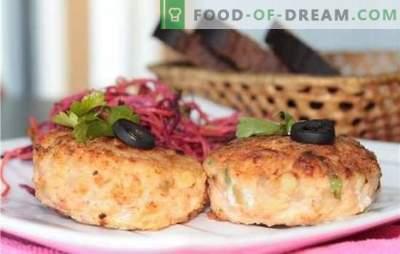 Malto lašišų kotletai - tai naminis delikatesas. Sultingi ir švelnios maltos kojinės su sūriu, bulvėmis, žalumynais