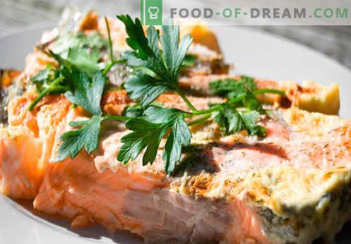 Kepta lašiša yra geriausi receptai. Kaip tinkamai ir skaniai virti lašišos, kepamos orkaitėje.